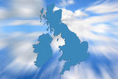 UK and ireland map — Foto Stock