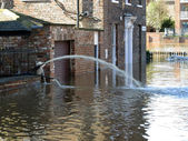 Flooded York City Street — Stockfoto