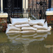 Foto Stock: York flooded street