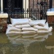Stockfoto: York flooded street