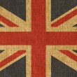 Textured UK flag - Stock Photo