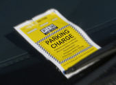 Parking ticket — Stock Photo