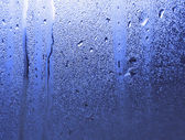 Water patterns on window — Foto Stock
