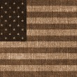Textured USA flag - Stock Photo