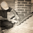 Trainee roofer — Stock Photo #23469304