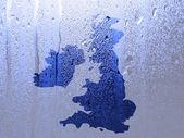 英国地图水格局 — 图库照片