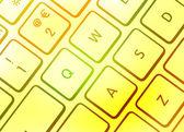Farbige tastatur — Stockfoto