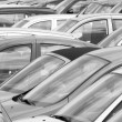 Crowded car park — Stock Photo