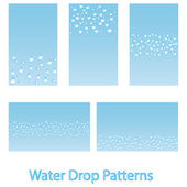 Water drop backgrounds — Stock Vector