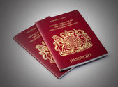 Two UK passports — 图库照片
