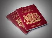 Two UK passports — Stock Photo