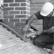 Trainee roofer — Foto de Stock