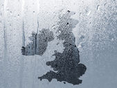 Water pattern over UK map — Stock Photo
