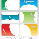 six outils cartes de visite — Vecteur