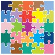 Colorful jigsaw pattern — Stock Vector