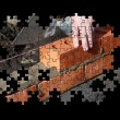Stock Photo: Brickwork jigsaw puzzle