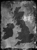 Grunge UK map — Stock Photo