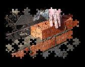 Brickwork jigsaw puzzle — Stock Photo