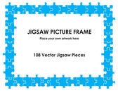 Jigsaw picture frame — Stock Vector