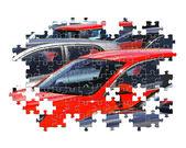Auto-puzzle — Stockfoto