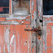 Old garage door — Stock Photo