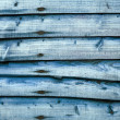 Blue larch lap fence panel — Stock Photo
