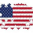 USA flag with missing pieces — Stock Photo #30035329