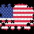 USA flag jigsaw puzzle — Stock Photo