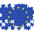 EU jigsaw pattern — Stock Photo