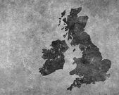 Grey grungy UK map — Foto de Stock