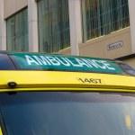 Ambulance in City Centre — Stock Photo