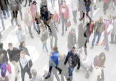 Busy shoppers — Stock Photo
