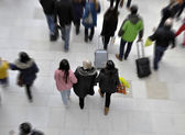 Shoppers in Mall — Stock Photo