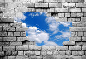 Wall to freedom — Stock Photo