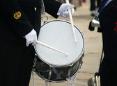 Military drummer — Stock Photo