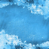 Blue coloured flaky wall — Foto Stock