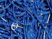 Blue and white rope — Stock Photo