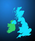 UK and Ireland map — Stock Photo