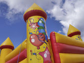 Colorful bouncy castle — Stock Photo