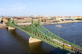 Wolności gród most i budapeszt — Zdjęcie stockowe