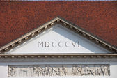 Sandor Palace Pediment in Budapest — Stock Photo