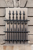Wrought Iron Window Grille — Stock Photo
