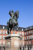 King Philip III Monument in Madrid — Stock Photo