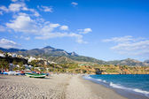 Burriana Beach in Nerja — Stock Photo