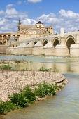 Roman Bridge on Guadalquivir River — Stock Photo