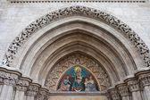 Madonna with Child on Matthias Church Tympanum — Stock Photo