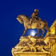 Stock Photo: Prince Eugene of Savoy Statue at Night
