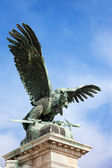 Turul Bird Statue in Budapest — Stock Photo