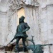 Stock Photo: King Matthias Staue in Budapest