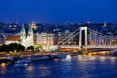 City of Budapest at Night — Stock Photo